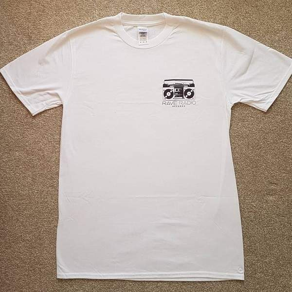Rave Radio Records White T-Shirt